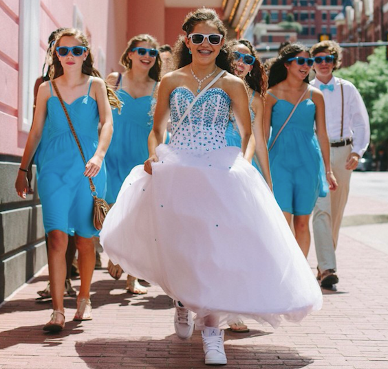 Quinceanera and her court