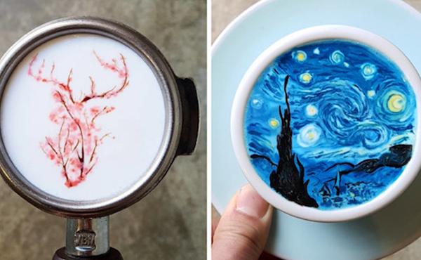 Wedding Reception Entertainment Ideas - Coffee Artist