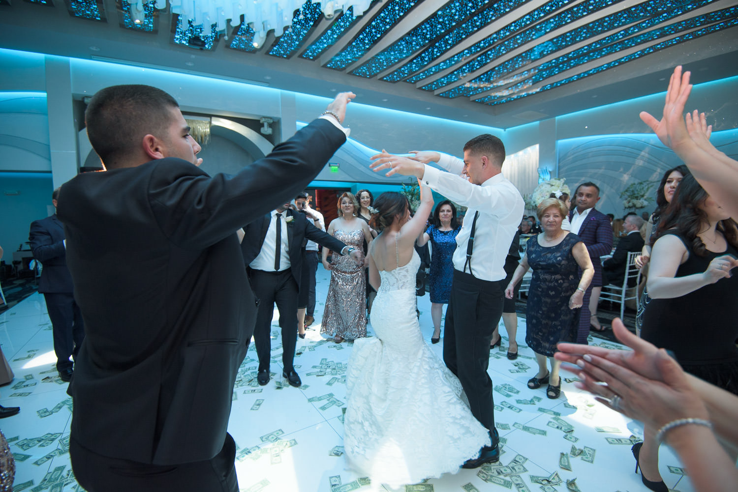 metropol ballroom - bride and groom dancing to pre-recorded music