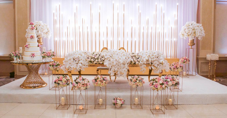 Wedding decor head table