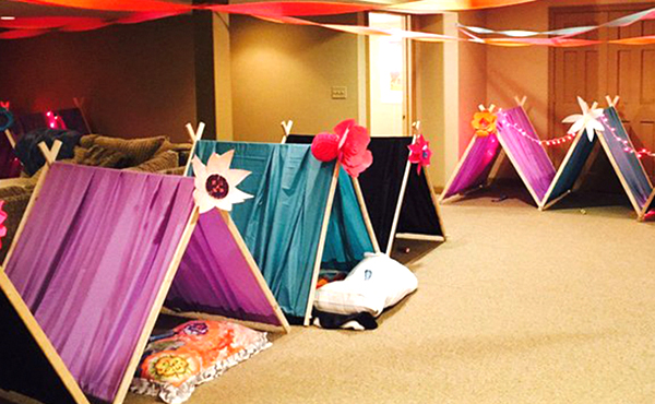 Wedding Reception Entertainment Ideas - Kid Zone With Teepees
