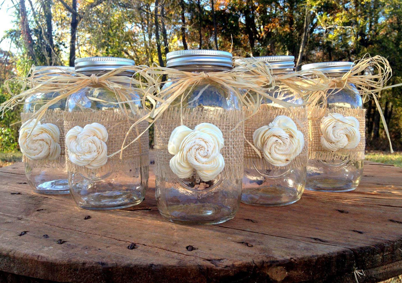 Disappearing Wedding Trends - Rustic Mason Jars With Burlap And Twine