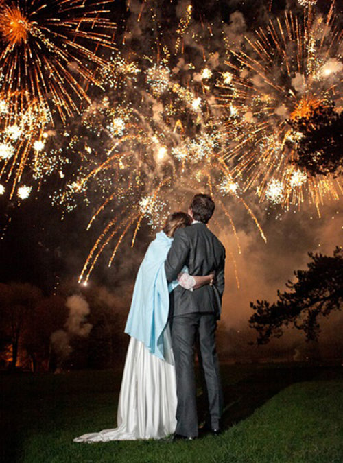Disappearing Wedding Trends - Surprise Wedding Fireworks