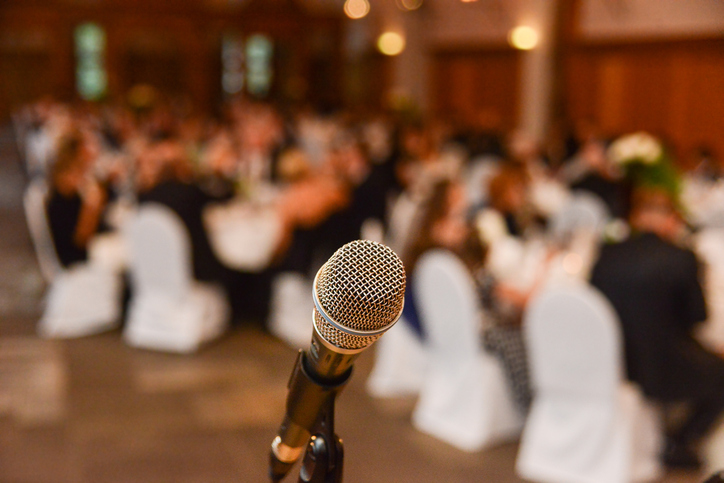 Wedding Toasts - Microphone In Front Of Guests